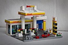 gas station lego