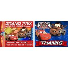 Save $1.49 on Disney Cars Grand Prix Invitation Combo; only $4.50
