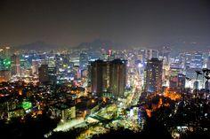 "Seoul at night :"">"