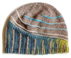 """A great spring hat! """"Barry"""" — the second design in Lee Meredith's Short Stripes Trio"""