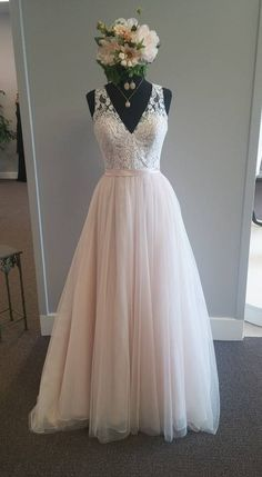 New Arrival Long Prom Dress,Sexy V Neck Prom Dresses,Tulle Evening Dresses,Formal Evening Gown