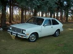 1976 Chevy Chevette, standard; 2nd car when Bobcat was totalled. Heat ran all the time even in 90 degree weather.