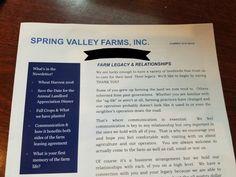 newsletter 2018 Being A Landlord, Farm Life, Farming, Words, Blog, Blogging