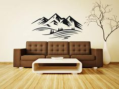 Mountains wall decalrock climbing wall sticker bedroom wall