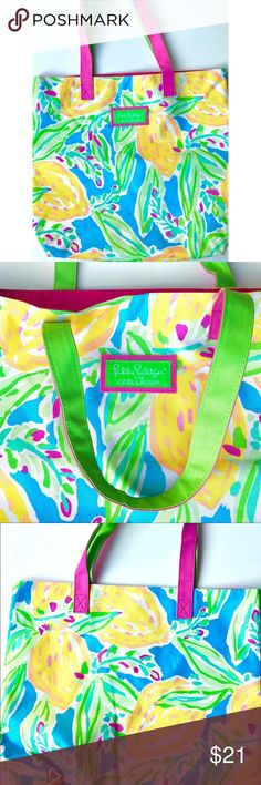 "☀️ Brand new Lilly Pulitzer tote bag ☀️ Brand new Lilly Pulitzer large colorful summer brach all-purpose tote bag. Beautiful floral design with warm colors. Bag depth: 13""; bag length: 14"".  Lilly Pulitzer Bags Totes"