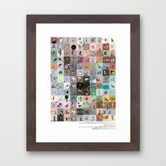 work is fun (mostly...) Framed Art Print