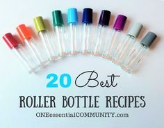 roller bottle recipes with FREE printable labels! Includes Immune Booster, Tummy Tamer, Muscle Soother, Owie Stick, Anti-Itch Stick, Seasonal Support, Tension Tamer, Deep Breath, Anti-Stress, Chill Out, Grounding Blend, Good Night Sleep Tight, Energized, Lets Focus, Joyful, Nourish, Clear Skin, Calm Skin, Motivation, and Gratitude