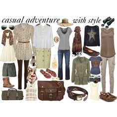 casual adventure wardrobe by susanmcu on Polyvore featuring Pussycat, Little Mistress, Gimmicks by BKE, Brunello Cucinelli, WalG, Mossimo, Witchery, Jane Norman, Ralph Lauren Blue Label and Joe Browns