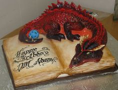 Smaug, the tasty geeky cake…