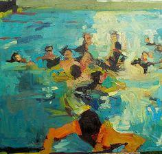 Jennifer Pochinski, The Big Swim, 2014 | Oil on canvas | 48 x 52 inches