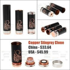 Copper Stingray Mod 3 Tube Set - $33.64+ - http://vapingcheap.com/copper-stingray-mod-3-tube-set-33-64/