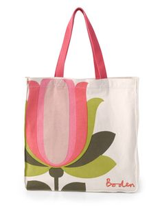 What says spring more than pink lemonade and tulips? | #Boden Canvas Shopper in Pink Lemonade Tulip