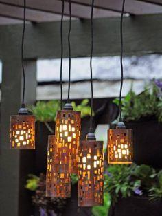 Luminarias con caño PVC