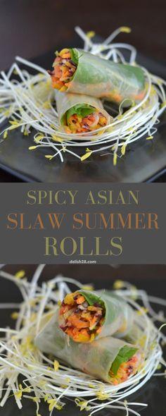 SPICY ASIAN SLAW SUMMER ROLLS