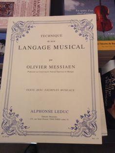Technique de mon Langage Musical par Olivier MESSIAEN  オリビエ・メシアンの、私の音楽語法の技術 édition Luduc