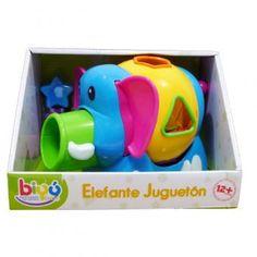Este simpático elefante ayuda a los niños en sus habilidades motrices al identificar que figura va en cada espacio, diferenciándolo por colores. Muy divertido. www.lacasadelaeducadora.com