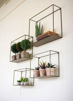 The Kalalou Metal Shelves is stylish and classy. They will catch the attention o… The Kalalou Metal Shelves is stylish and classy. They will catch the attention of all the eyes when put together. The Kalalou Metal Shelves are available in a s Cheap Home Decor, Diy Home Decor, Cheap Wall Decor, Unique Wall Decor, Creative Decor, Nature Home Decor, Hipster Home Decor, Green Home Decor, Creative Walls