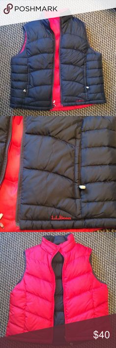 L.L. Bean Reversible Down Vest Warmth and Fashion Combined. Good Condition. Zippered Pockets for Secure Storage. L.L. Bean Jackets & Coats Vests