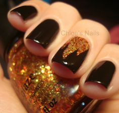 Glittering Chocolate Nail Design