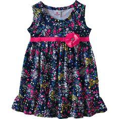 Vestido Infantil Floral Godê Feminino Marinho - Brandili :: 764 Kids | Roupa bebê e infantil