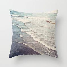 Beach theme living room - Ocean Waves Retro Throw Pillow