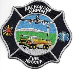 "3.75/"" x 4.5/"" size Alaska Anchorage  Fire fire patch"