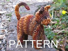 Waldorf Toy Cat Knitting Pattern PDF by mamma4earth on Etsy, $5.00