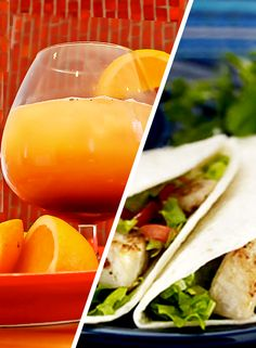 Southwest Sunset Sauza® Tequila Margarita & HERDEZ® Brand Fish Tacos. This pin enters me to win a #CelebrateCinco party kit from @Sauza® Tequila and @HERDEZ® Brand!