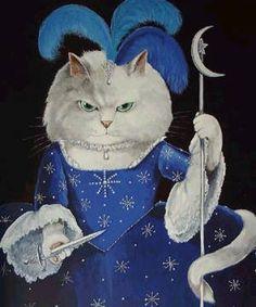 Susan Herbert painting (La Reina de la Noche- La Flauta Mágica- W A Mozart)