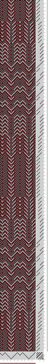 gorgeous Threading Draft from Divisional Profile, Tieup: , Draft #45548, Threading: Weber Kunst und Bild Buch, Marx Ziegler, (1677) # 13, Treadling: Weber Kunst und Bild Buch, Marx Ziegler, (1677) # 9, 8S, 8T - Handweaving.net Hand Weaving and Draft Archive  http://www.ravelry.com/projects/Weaverwhiz/snakeskin-scarf