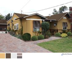 Warm Earthtone Stucco Bungalow - Mochi Home