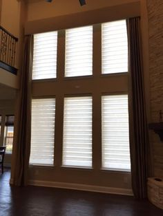 Hunter Douglas Pirouette PowerView Shades with custom valance in Coppell, TX
