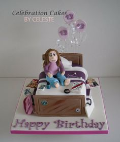 Teenagers bedroom - bespoke birthday cake  Cake by Celebration Cakes by Celeste