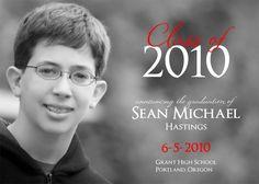 Black and White Custom Photo Graduation Announcement or Invitation