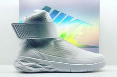 new concept ce874 b64dc Nike Introduces the Futuristic Swoosh Hunter Silhouette  Reminiscent of the  Air MAG.