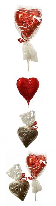 Sjaak's Organic Vegan Milk Chocolate Valentines Day Gift Set: Heart Chocolate Lollipop, Almond Butter Heart Gift Set