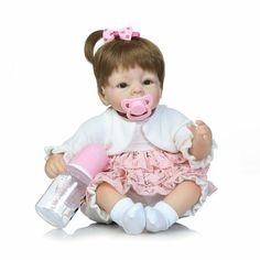 Lifelike Realistic 40-45 cm Reborn Baby Dolls Cheap Newborn Babies For Kids Growth Partners Cute Reborn Baby Doll For Adoption