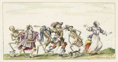 Dance of the Dead, Gesina ter Borch, Hans Holbein (II), 1660 - ca. 1687
