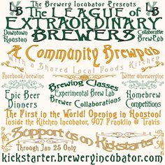 The Brewery Incubator went live on Kickstarter in December, 2013 after an intense six month promotional period where I rounded up the initial Members and educated the market about the concept.