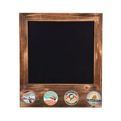 """Wood Framed Magnetic Chalkboard with  Vintage Diner Peg Hooks \""""x16\"""" ($30) ❤ liked on Polyvore featuring home, home decor, office accessories, brown, magnetic office accessories, wood chalkboard, vintage chalkboard, wooden chalkboard and magnetic chalkboards"""