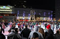 Ice skating at Fountain Square is a fun winter tradition in Cincinnati!
