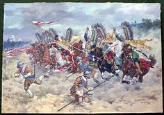 Charge of the Polish Lancers at the Battle of Kircholm 1605 (Original) (Signed) art by Edward Mesjasz