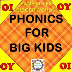 """This resource is perfect for older elementary grade students who need to hone their phonics skills. They will love the challenging and fun word work activities provided. (word lists, vocab/definitions, , cloze sentences, """"Ad-Lib"""" activity, """"I Spy/Spot it"""" actvity, games, etc.)"""