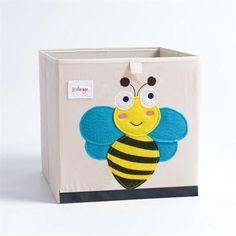 Cube storage box - bee Fabric Storage Boxes, Storage Boxes With Lids, Kid Toy Storage, Cube Storage, Storage Bins, Storage Ideas, Cubes, Kallax Shelving Unit, Underwear Storage
