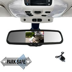 Parksafe CD-CM067 4.3″ Replacement Mirror Monitor & Mini Butterfly Camera Combo Reverse Mirror, Monitor, Mini