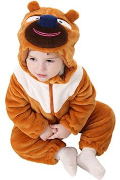 0a2d20138 DQdq Unisex Baby Halloween Costume Autumn Outfit Spring Jumpsuits Brown  Bear 1001823 Months Toddler Pajamas,