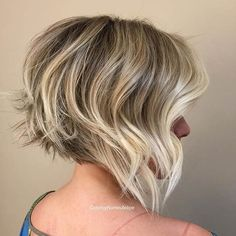 Messy Graduated Bob Haircut