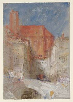 Joseph Mallord William Turner - Venice: The Church of Santo Stefano, from the Rio del Santissimo (c.1840)