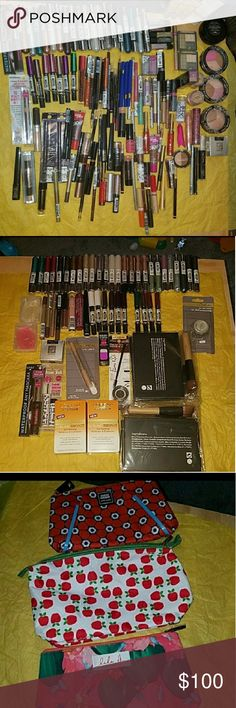 Makeup Bundle Of 10 &1 largemakeupbag ⚠Please Read This is For 10 Makeup Items & 1 Large Makeup Bag  And 1 Hair Care Or Skin Care Product Only⚠have a few some high end make up Items & samples   please message below if purchasing  Best Makeup BundleFIRM PRICE  pick your makeup items makeupbag and hair or skinproduct  all come with 1 free mini v.s perfume or you can choose one vs lipgloss and various brands makeup mostly hard candy⚠Please Message below Your PicksThis Is For 10 Makeup Items…