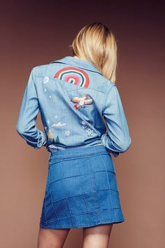 With festival season just around the corner, we are diggin' the groovy vibes from Mother's 70s inspired capsule collection. Embroidered chambray shirts, high waisted bells with braided waistlines, butt hugging cropped denim . . . it's all far out, man.